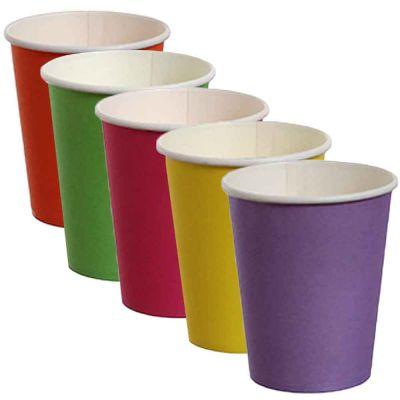 Bicchieri di cartoncino colorati DOpla Party 240ml vari colori
