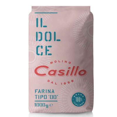 Farina di grano tenero tipo 00 per dolci W160 Casillo 1 kg