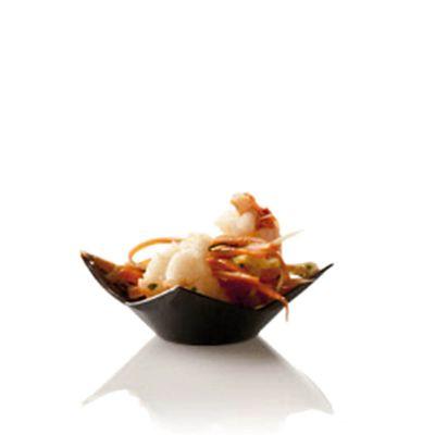Piattini monoporzioni finger food fiore nero