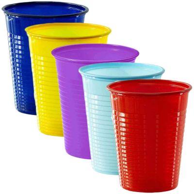 Bicchieri di plastica colorati usa e getta DOpla Colors