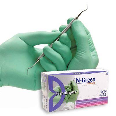 100 Guanti medicali nitrile Multipro N-Green taglie a scelta