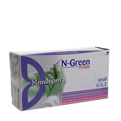 100 Guanti medicali nitrile Multipro N-Green taglia S