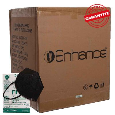 Cartone 1350 Mascherina FFP2 Enhance NERO CE