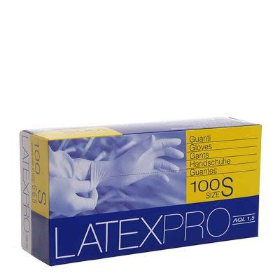 Guanti in lattice monouso Latex Pro colore bianco taglia S