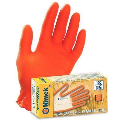 100 Guanti nitrile arancione Nimek