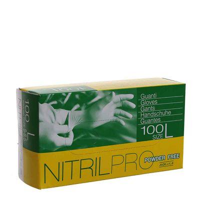 Guanti nitrile Nitril Pro Powderfree azzurri taglia L