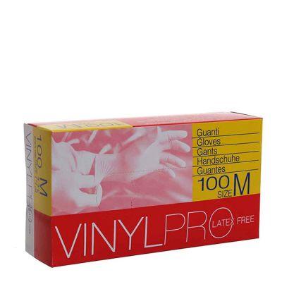 Guanti in vinile monouso VinylPro latex free bianco trasparente taglia M