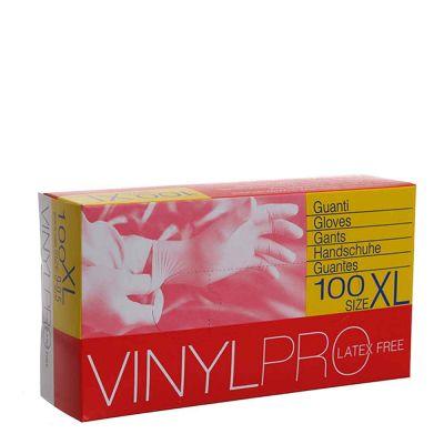 Guanti in vinile monouso VinylPro latex free bianco trasparente taglia XL