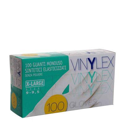 Guanti in vinile monouso Vinilex colore bianco taglia XL