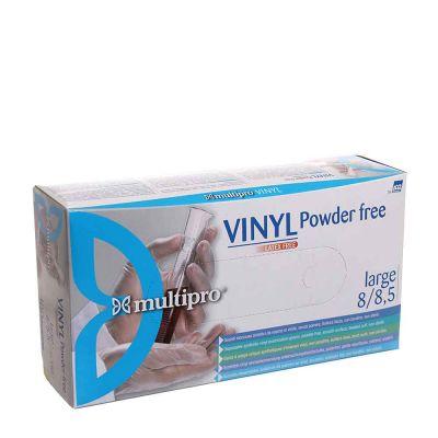 100 Guanti in vinile Icoguanti Multipro Vinyl senza polvere trasparenti L 8-8,5