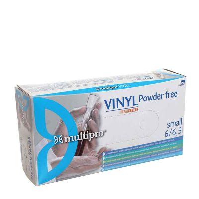 100 Guanti in vinile Icoguanti Multipro Vinyl senza polvere trasparenti S 6-6,5