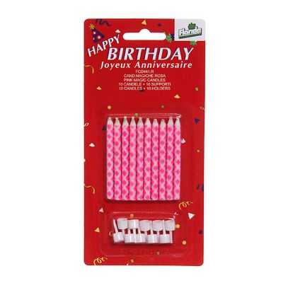 Candeline compleanno magiche rosa - confezione