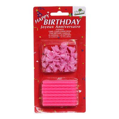 Candeline compleanno rosa - confezione