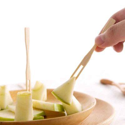 Forchettine di legno per aperitivo con frutta
