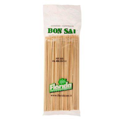 Spiedini di legno in bambù 25 cm