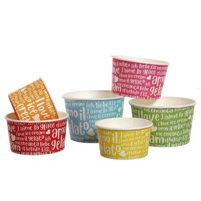 Coppette in carta per gelato Funny colorate