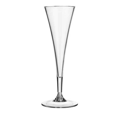 Bicchiere calice flute Deluxe infrangibile in policarbonato riutilizzabile 140cc