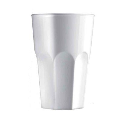 5 Bicchieri per cocktail riutilizzabili Granity bianchi 400 cc
