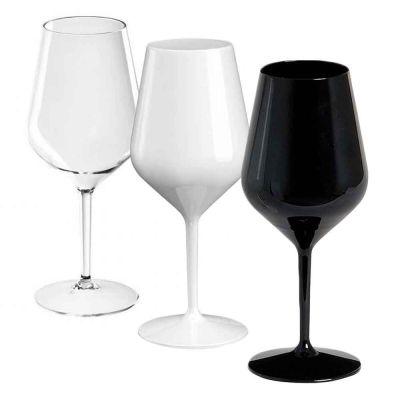 Set 6 Bicchieri Calici da vino e Cocktail infrangibili lavabili 470cc