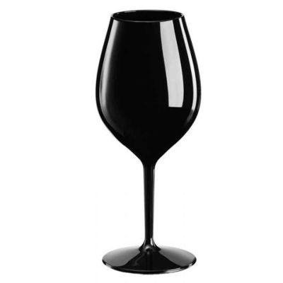 Set 6 Bicchieri Calici Redone neri infrangibili riutilizzabili 510cc