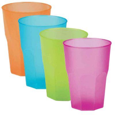 Bicchieri per cocktail riutilizzabili satinati colorati 420cc
