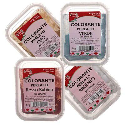 Colorante in polvere per alimenti effetto perlato 6 g