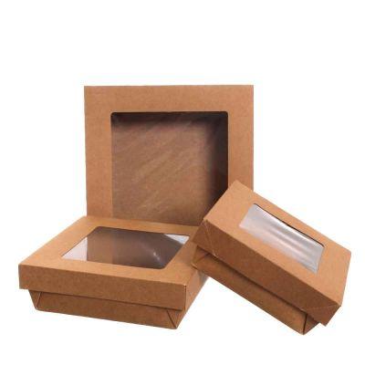 30 Box contenitori take away quadrati con coperchio a finestra