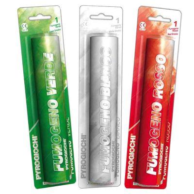 Set di 3 fumogeni Pyrogiochi colori Italia rosso bianco e verde