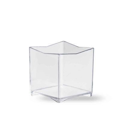 Bicchierini monoporzioni a cubo Kubo 60cc trasparente