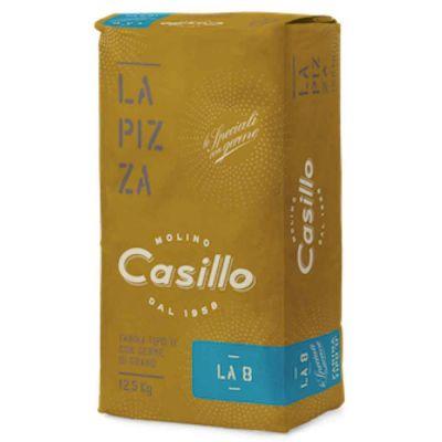 LA 8 Farina di grano tenero tipo 0 per pizza W300 Casillo 12,5 kg