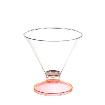 Coppa di plastica Malibu' base arancio fluo