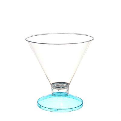 Coppa di plastica Malibu' base celeste fluo