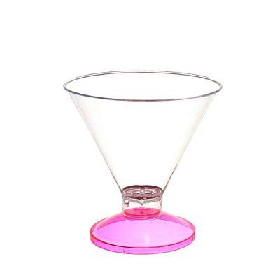 Coppa di plastica Malibu' base fucsia fluo