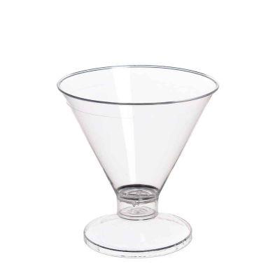 Coppa di plastica Malibu' base trasparente
