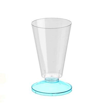 Coppa di plastica Marianna base celeste fluo