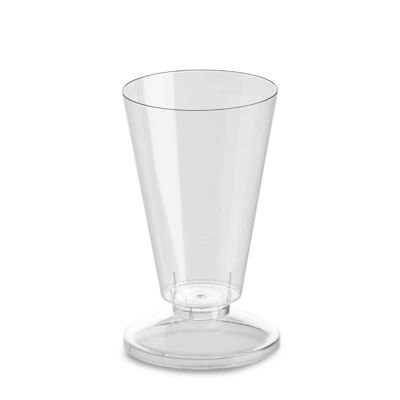 Coppa di plastica Marianna base trasparente