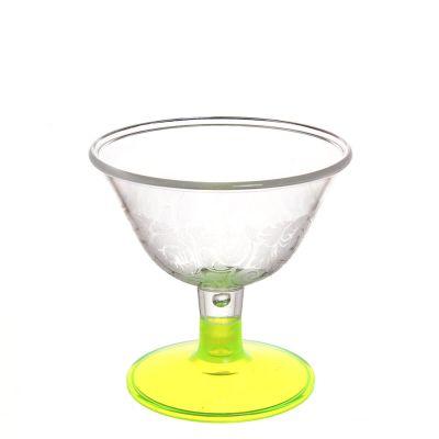 Coppa da gelato infrangibile in policarbonato giallo fluo