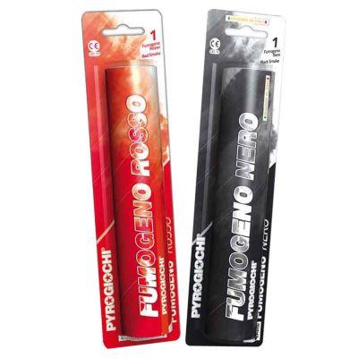 Set di 2 fumogeni Pyrogiochi colori rosso e nero Milan