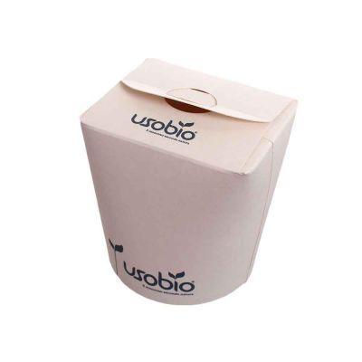 50 Contenitori per asporto in cartoncino compostabile Ø8 x h 9,5 cm