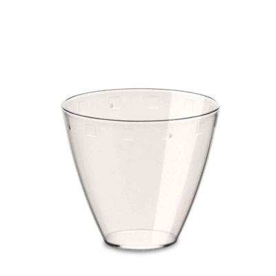 Bicchierini Apollo plastica PS trasparente 120cc Poloplast