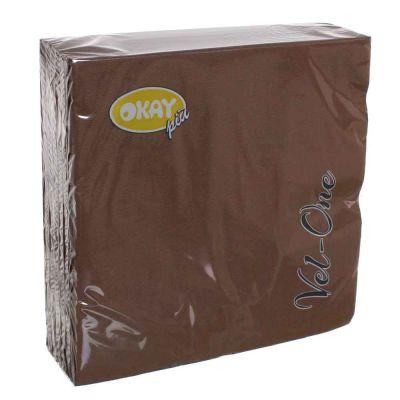 60 Tovaglioli in carta ovatta colorati Velone 40x40 cm marroni