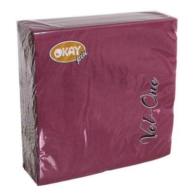 60 Tovaglioli in carta ovatta colorati Velone 40x40 cm bordeaux