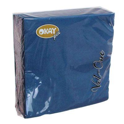 60 Tovaglioli in carta ovatta colorati Velone 40x40 cm blu