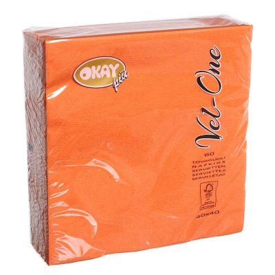 60 Tovaglioli in carta ovatta colorati Velone Okay 40x40 cm arancioni
