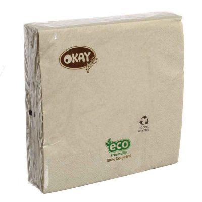50 Tovaglioli in carta ovatta riciclata Okay 40x40 cm Okay ecru naturale
