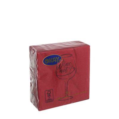 50 Tovaglioli di carta merlot 25x25 Wine not