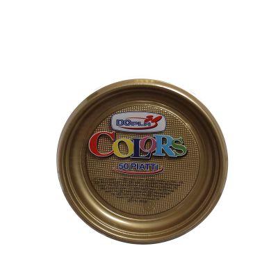 Piatti di plastica colorati per feste DOpla Colors Ø17 oro