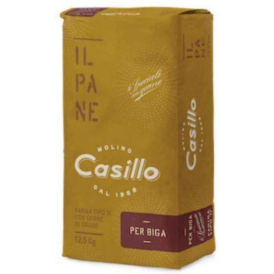 PER BIGA farina di grano tenero tipo 0 per pane W285 Casillo 12,5 kg
