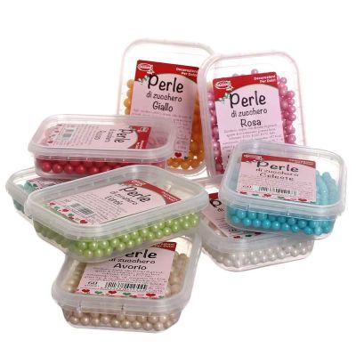 Perle di zucchero colorate per decorazione torte 60 g