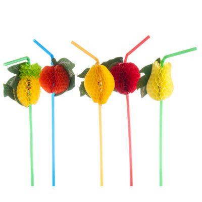 Decorazioni per cocktail frappè e frullato - Frutta su cannuccia